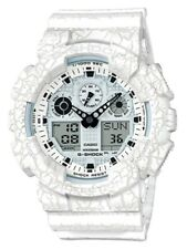 Casio G-Shock *GA100CG-7A Anadigi Cracked Pattern White Resin Watch COD PayPal