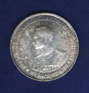THAILAND RAMA IX  (1963) 20 BAHT SILVER COIN, CHOICE NEAR-BRILLIANT UNCIRCULATED