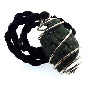 Rare Green Heulandite Gemstone Crystal Spiral Pendant