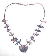 Necklace Bear Bunny Heishi Animals 925 Vintage Agate Zuni Thunderbird Fetish