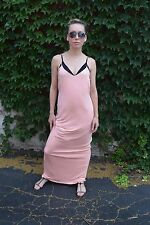 ZARA long Maxi dress Light Salmon Pink Size S