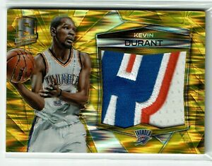 Kevin Durant 15-16 Panini Spectra Jumbo Patch Gold Prizm 2/10