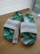 Superdry  Slipper Pool Slide White TROPICAL SLIPPERS SIZE L (10/10.5)