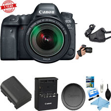 Canon EOS 6D Mark II DSLR Camera w/ 24-105mm f/3.5-5.6 Lens +Cleaning Kit+Grip