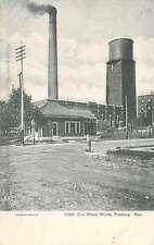 Pittsburg Kansas birds eye view City Water Works building antique pc Z23574