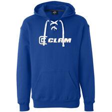 Clam Fishing Ice Armour Hockey Lace Blue Hoodie Hooded Sweatshirt - Men's MEDIUM