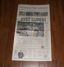 PITTSBURGH STEELERS AFC CHAMPS NEWSPAPER - JUST SUPER - TRIBUNE REVIEW 1/23/06