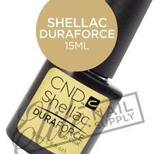 CND SHELLAC DURAFORCE Top Coat 15ml + FREE CND Foil Remover Wraps