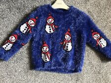 Christmas Snow Man Jumper Girls Aged 3 Years Next