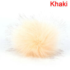 Soft Faux Fur PomPom DIY Car Handbag Keychain Fluffy Ball Pendant Accessory FR