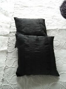 Lovely Black Cushion Covers x 2