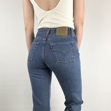 Women`s Vintage Levi`s 501 High Waisted Mom Jeans UK Size 12 / W32 L34