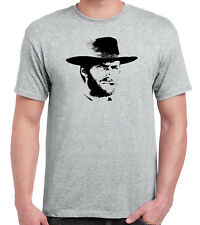 Clint Eastwood Grey T-Shirt Cowboy Western Spaghetti