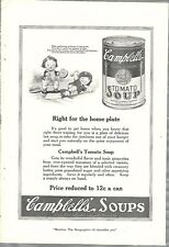 1921 CAMPBELLS SOUP advertisement, Tomato Soup, Campbell's Kids
