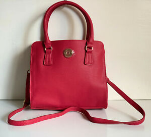 NEW! TOMMY HILFIGER RED CONVERTIBLE CROSSBODY SHOPPER TOTE SLING BAG $89 SALE