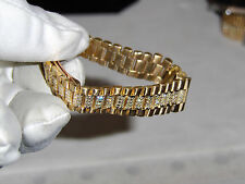"ROLEX LADIES SOLID ""FACTORY18K DIAMOND BAND"" APROX. 37.6 GRAMS DIAMONDS FACTORY"