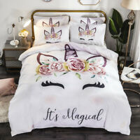 Magical Unicorn Kids Duvet Cover Quilt Cover Bedding Pillow Case Comforter Cover