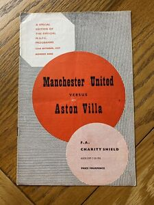 Manchester United V Aston Villa Rare Charity Shield 1957/58 Munich Season Token