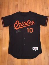 Miguel Tejada Jersey Baltimore Orioles Black Majestic 48 (Adam Jones Signature)