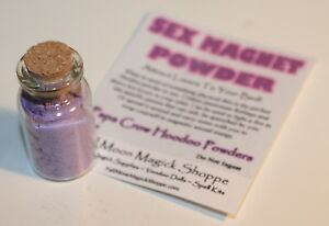 Sex Magnet Hoodoo Powder Charisma Sexual Attraction Love Power In Corked Bottle