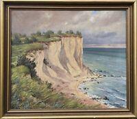 Impressionist Walter Voigt 1908–1984 Steilufer an der Ostsee Hiddensee Kloster