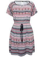 Pepperberry Sz 8-18 CV RC SC Lined Aztec Fit & Flare Tunic Tea Dress Summer