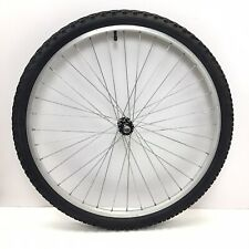 """26"""" Front Bicycle Alloy Wheel Silver w/ 1.95"""" Tire Mountain Bike #012 Complete"""
