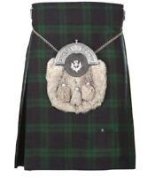 New Scottish Tartan Wedding Black Watch 5 Yard Acrylic Kilt Size 30-54 Inch
