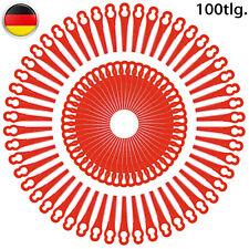 100*Rot Kunststoffmesser Ersatzmesser Messer Kunststoff Für Akku Rasentrimmer
