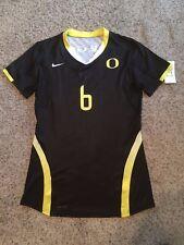 NIKE Women's Oregon Ducks Short SLEEVE Black GAME JERSEY Sz Womens Medium M #6 .