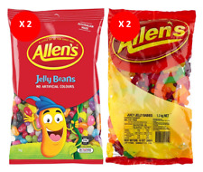 COMBO x 2 (4) BULK BAGS OF ALLEN'S JELLY BEANS & JUICY JELLY BABIES 4.6kg NET