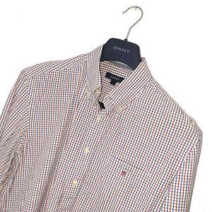 Men's GANT Premium BOWERY TATTERSALL Gingham Red/Blue Check Shirt Size L *VGC*