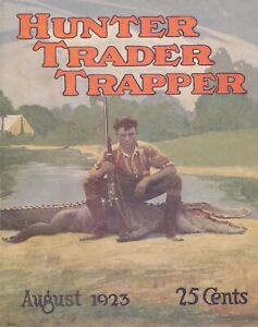 Alligator Hunting Vintage Magazine Cover Art Print Fishing Home Wall Decor Gift