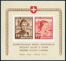SCHWEIZ 1941, Block 6, sauber ungebraucht, Mi. 50,-