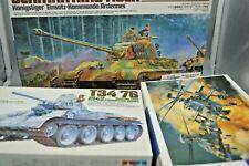 Lot of 3 Tamiya/Hasegawa Military Models, Tanks & Helicopter