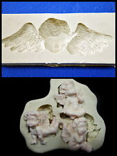 Silicone Mold Mould  for sugarcraft, Sugar Cake,Cupcake, Clay - 2 Type Angel Set