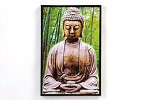 WANDBILD Buddha Bild Feng Shui Wohnzimmer Kunst DESIGNBILDER 160x90cm