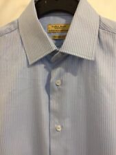 Mens Light Blue Striped Small Smart Casual Long Sleeve Shirt From Zara