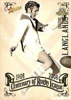 ✺New✺ 2008 ST GEORGE DRAGONS NRL Card GRAEME LANGLANDS Centenary