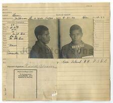 Police Booking Sheet - Roscoe Weaver - Burglary - Jackson Co., MO - 1920