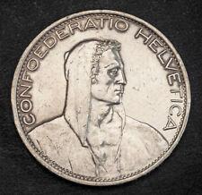 1925, Switzerland (Confederation). Silver 5 Francs (5 Franken) Coin. Tooled XF!