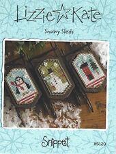 Christmas Lizzie Kate Snowy Sleds Cross Stitch Charts