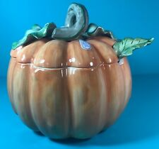 Fitz & Floyd Fruits & Veggies Pumpkin Soup Tureen New Tag and UPC Label Included