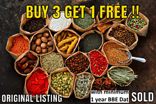 Whole Spices, Ground Spices, Herbs, Seeds and Chillies**FREE POSTAGE**