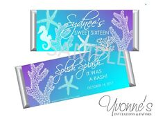 Sea-Themed / Ocean Under Water Candy Bar Wrappers-Sweet 16-Birthday- Bat Mitzvah