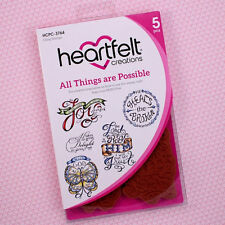 Heartfelt Creations Cling Rubber Stamp Set All Things Are Possible, HCPC3764 ~
