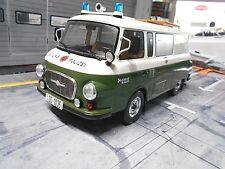 BARKAS Bus Van B 1000 B1000 Halbbus Polizei Volkspolizei DDR 1970 NEU MCG 1:18