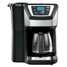 Coffee Maker Programmable Stainless Steel Drip Built-In Grinder 12-Cup Home Brew