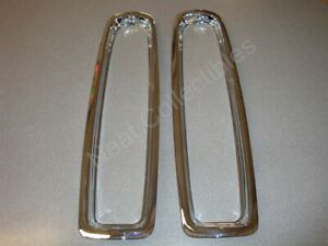 NOS Pair Cadillac Fleetwood Deville RWD Tail Lamp Light Bezel 1980 - 89 1617296