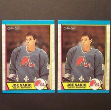 JOE SAKIC RC (2) 1989/90 OPeeChee #113 Colorado Avalanche Team Canada HOF Rookie